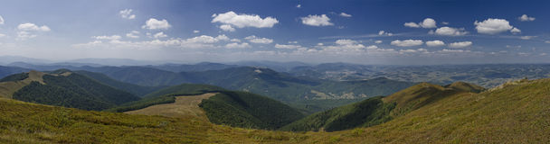 Summer mountains. Zakarpatska oblast. Ukraine Stock Photos