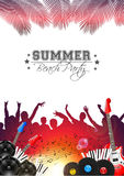 Summer Music Background with Instruments - Vector. With place for your text Royalty Free Stock Photos