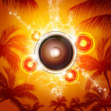 Summer Music Background Stock Photography
