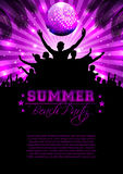 Summer Music Background - Vector Royalty Free Stock Images