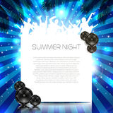 Summer Music Background - Vector. Summer Music Background with Instruments - Vector with place for your text Stock Photo