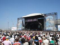 Summer Music Festival. Crowds at the annual Summer Sonic in Osaka, Japan Royalty Free Stock Image