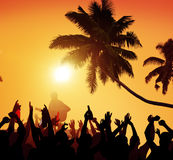 Summer Music Festival Beach Party Performer Excitement Concept Stock Image