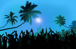 Free Summer Music Festival Beach Party Performer Excitement Concept Royalty Free Stock Photos - 60510408