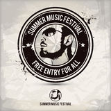 Summer music festival stamp Royalty Free Stock Photography