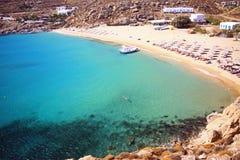 Summer in mykonos stock photo