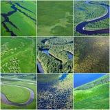 Summer natural textures, top view Stock Photos