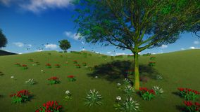 Summer nature background royalty free illustration