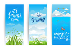 Summer nature banners Royalty Free Stock Photography