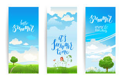 Summer nature banners Stock Photography