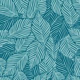 Summer Nature Jungle Print. Exotic Plant. Tropical Pattern, Palm Leaves Seamless Royalty Free Stock Photography