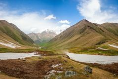 Summer nature landscape with glacier and mountain Royalty Free Stock Photos