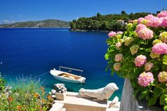 Summer nature sea Korcula Stock Images