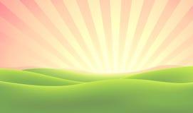 Summer Nature Sunrise Background vector illustration