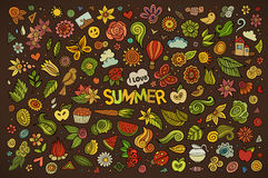 Summer nature symbols and objects Royalty Free Stock Photo