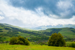 Summer nature with valley and mountains Royalty Free Stock Photo