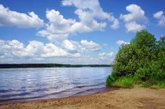 Summer nature, Volga  river Stock Photos