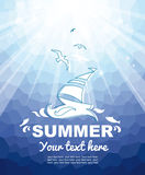 Summer nautical background Royalty Free Stock Photo