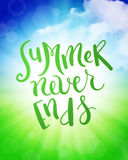 Summer never ends Royalty Free Stock Photo