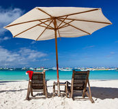 Summer New Year. On tropical beach Stock Photography