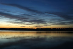 Summer night. Midsummer night over river Daugava Royalty Free Stock Image