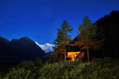 Summer  night in Altai Royalty Free Stock Photos