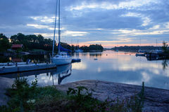 Summer night in the archipelago Royalty Free Stock Photography