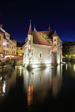 Summer night in the charming medieval town Royalty Free Stock Image