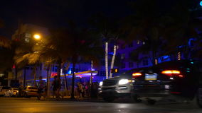 Summer night famous miami beach ocean drive club party 4k florida usa. Usa summer night famous miami beach ocean drive club party 4k florida stock footage