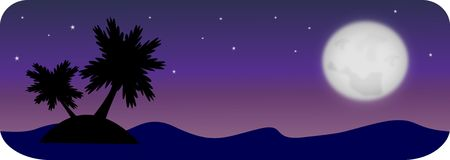 Summer night header Stock Images