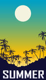Summer night landscape. Royalty Free Stock Images