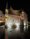 Summer night in the  medieval town. Stock Images