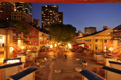 Summer Night Out at Faneuil Hall Royalty Free Stock Image