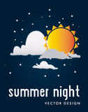 Summer night Royalty Free Stock Photography