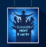 Summer night party Royalty Free Stock Photo