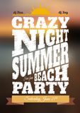 Summer night party poster Royalty Free Stock Images