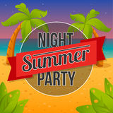 Summer night party. Royalty Free Stock Image