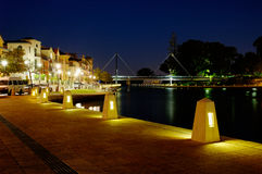 Summer night at Perth City. East Perth, Western Australia stock image