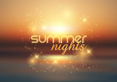 Summer nights background Stock Photography