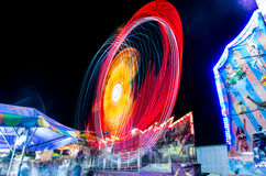 Summer nights. At a carnival time lapse exposure Stock Photography