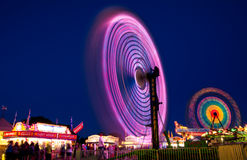 Summer nights. At a carnival time lapse exposure Royalty Free Stock Image