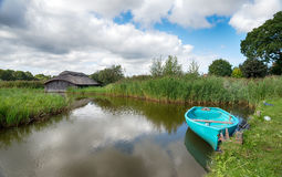 Summer on the Norfolk Broads Royalty Free Stock Photo