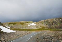 Summer Norwegian road Stock Images