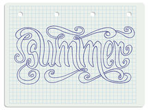 Summer notebook lettering Stock Photography