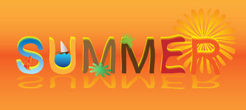 Summer notice Royalty Free Stock Images