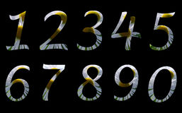 Summer numbers Stock Photos
