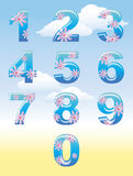 Summer numbers royalty free illustration