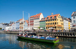 Summer Nyhavn Tourism Royalty Free Stock Photo