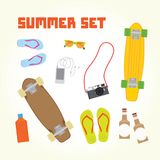 Summer objects set Stock Image