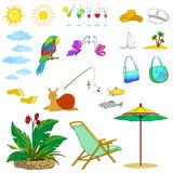 Summer objects Stock Photo